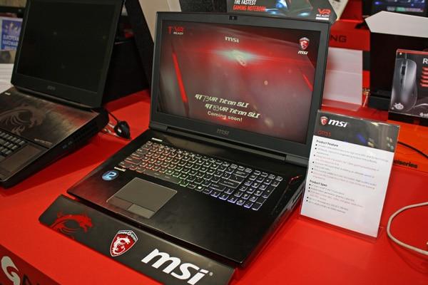 MSI GT73 S Titan SLI, PC portable 17 pouces avec SLI GeForce GTX 1080