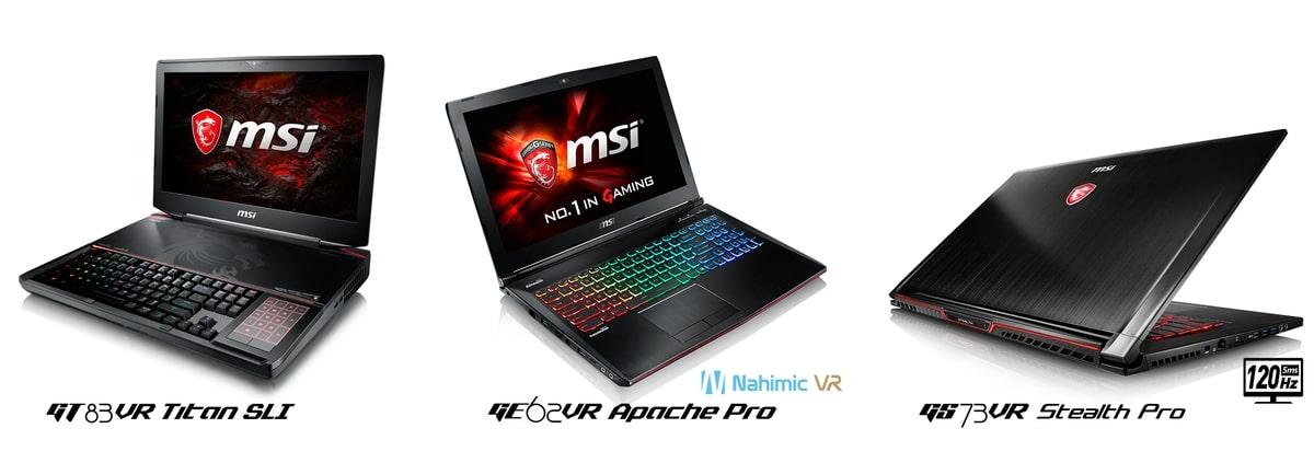 """<span class=""""tagtitre"""">CES 2017 - </span>MSI annonce des PC portables avec Kaby Lake et GPU GTX Pascal"""