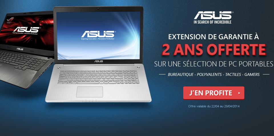 """<span class=""""tagtitre"""">Bon Plan - </span>Materiel.net offre une extension de garantie à 2 ans avec des PC portables Asus"""