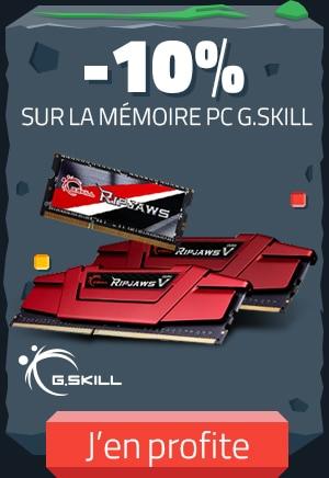 """<span class=""""tagtitre"""">Bon Plan - </span>10% de remise sur la RAM G.Skill pour PC portables chez Materiel.net"""