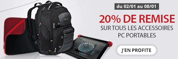 """<span class=""""tagtitre"""">Bon Plan - </span>20% de remise sur tous les accessoires PC portables chez Materiel.net"""