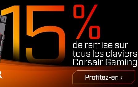 """<span class=""""tagtitre"""">Bon Plan - </span>15% de remise sur les claviers Corsair Gaming chez Materiel.net"""