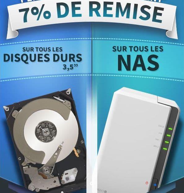 """<span class=""""tagtitre"""">Bon Plan - </span>7% de remise immédiate sur les NAS et disques durs chez Materiel.net"""