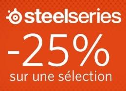"""<span class=""""tagtitre"""">Bon Plan - </span>25% de remise sur des périphériques SteelSeries chez Materiel.net"""