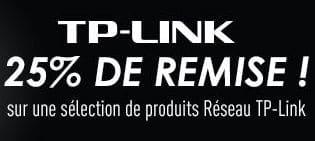"""<span class=""""tagtitre"""">Bon Plan - </span>25% de remise immédiate sur les produits réseau TP-Link"""