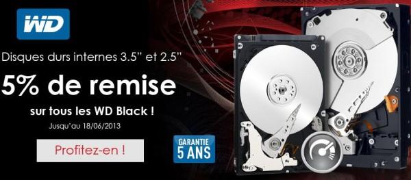 Materiel.net Réductions disques durs Western Digital Black 18juin13