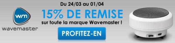 Materiel.net Réductions enceintes Wavemaster 1avril14