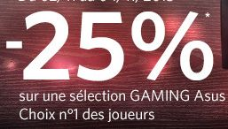 """<span class=""""tagtitre"""">Bon Plan - </span>25% de remise sur des périphériques gamer Asus chez Materiel.net"""