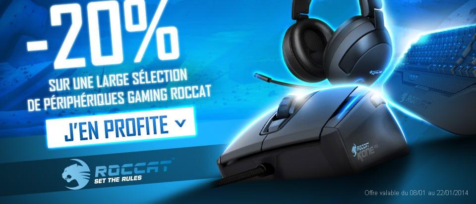 """<span class=""""tagtitre"""">Bon Plan - </span>20% de remise sur les périphériques gaming Roccat chez Materiel.net"""