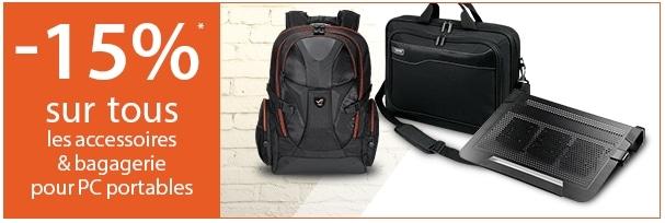 """<span class=""""tagtitre"""">Bon Plan - </span>15% sur les accessoires et sacs pour PC portables"""