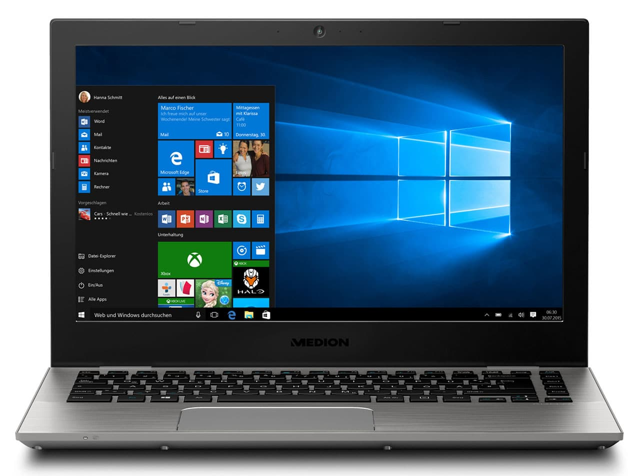 Medion Akoya 3409 à 649€, Ultrabook 13 pouces Full IPS SSD 256 Kaby Lake i5