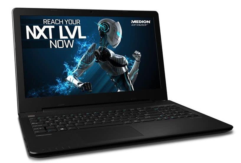 Medion Erazer P6661 à 674€, PC portable 15 pouces Full HD mat polyvalent
