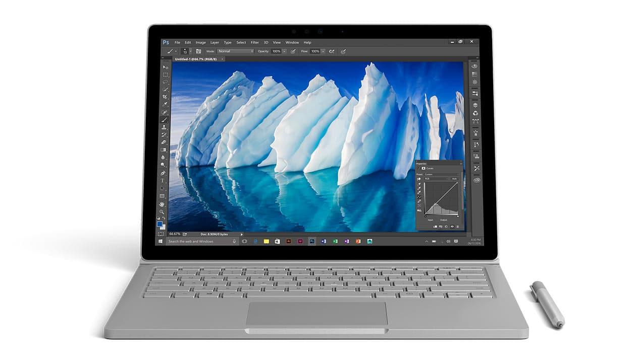 Microsoft – nouveau Surface Book i7 avec SSD et GTX 965M, 16 heures