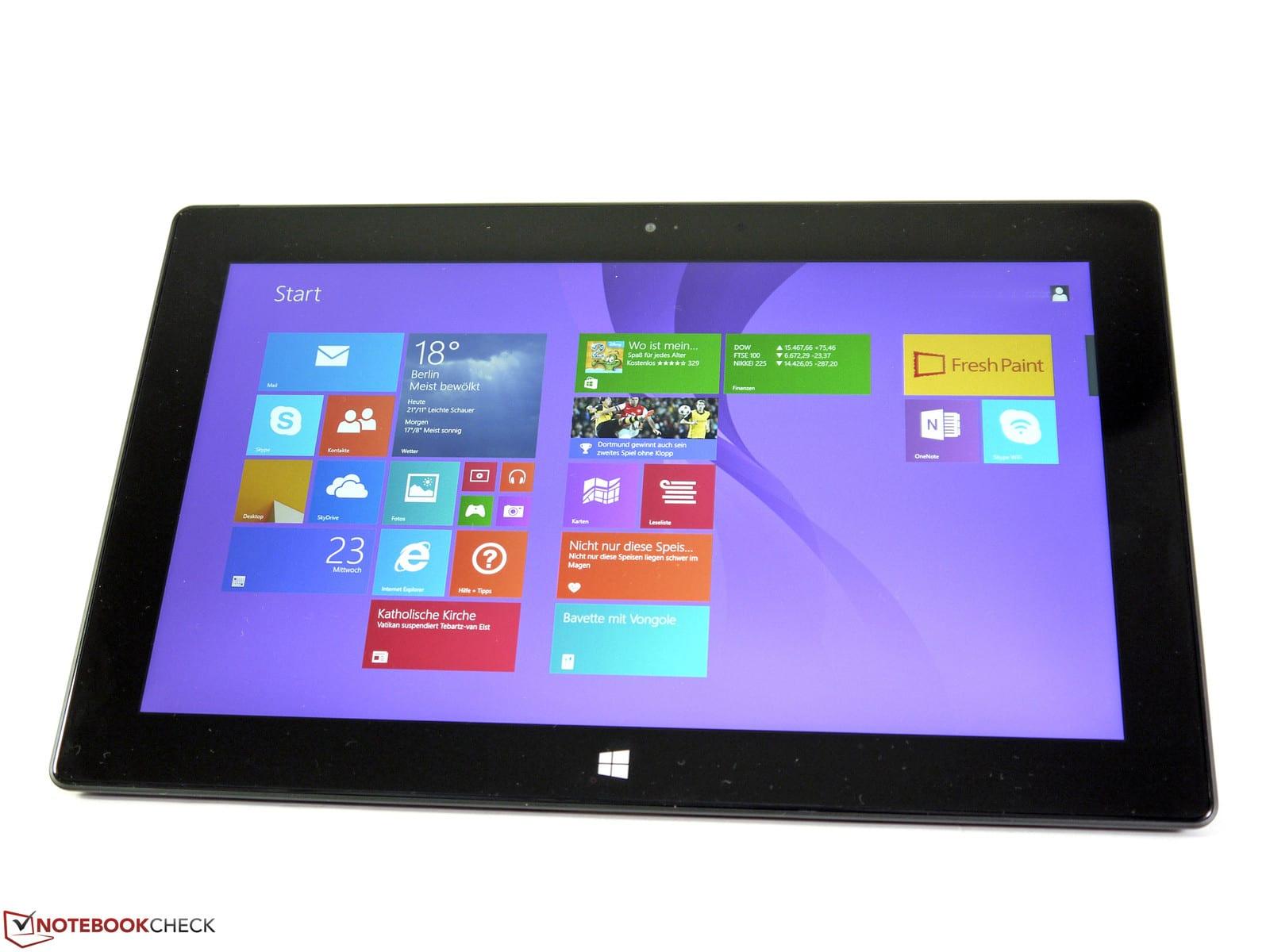 Revue de presse des tests publiés sur le Web (Microsoft Surface Pro 2 Haswell)