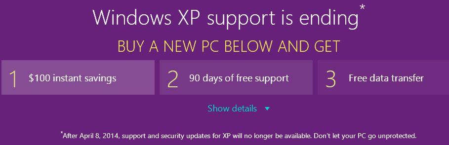 Microsoft offre 100 dollars aux utilisateurs pour abandonner leur PC sous Windows XP