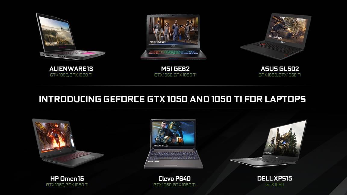 """<span class=""""tagtitre"""">CES 2017 - </span>NVIDIA lance ses GeForce GTX 1050 (Ti) pour PC portables"""