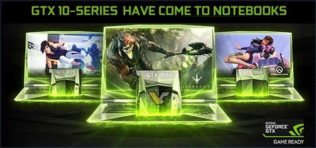 NVIDIA lance officiellement ses GeForce GTX 1060, 1070 et 1080 pour PC portables