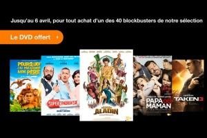 Orange offre le DVD d'un film acheté en VOD