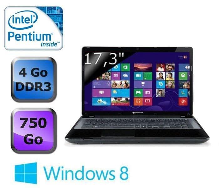 """Packard Bell Easynote LV11HC-20204G75Mnkk en vente flash à 379€, 17.3"""" avec Pentium Dual Core Ivy Bridge, 750 Go"""