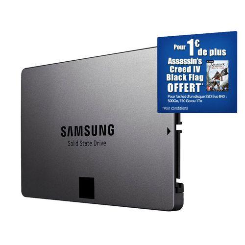 SSD Samsung Evo 500 Go Réductions Amazon Rue du Commerce Assassin Creed IV