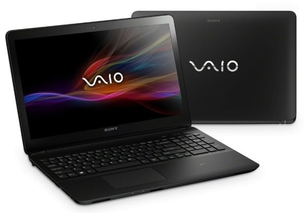 """Sony Vaio Fit 15E SVF1532S2E/B, 15.5"""" tactile avec Core i5 Haswell, 6 Go, GT 740M, 750 Go à 899€"""