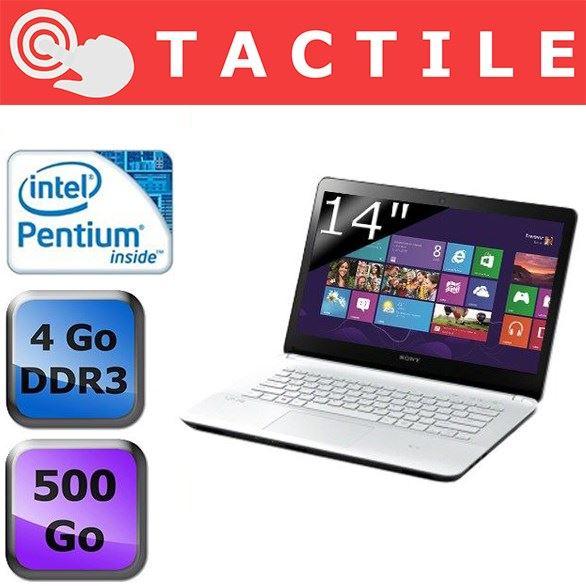 """Sony Vaio Fit E SVF1421D4E/W, 14"""" tactile avec Pentium Dual Core, 500 Go, vente flash 499€"""
