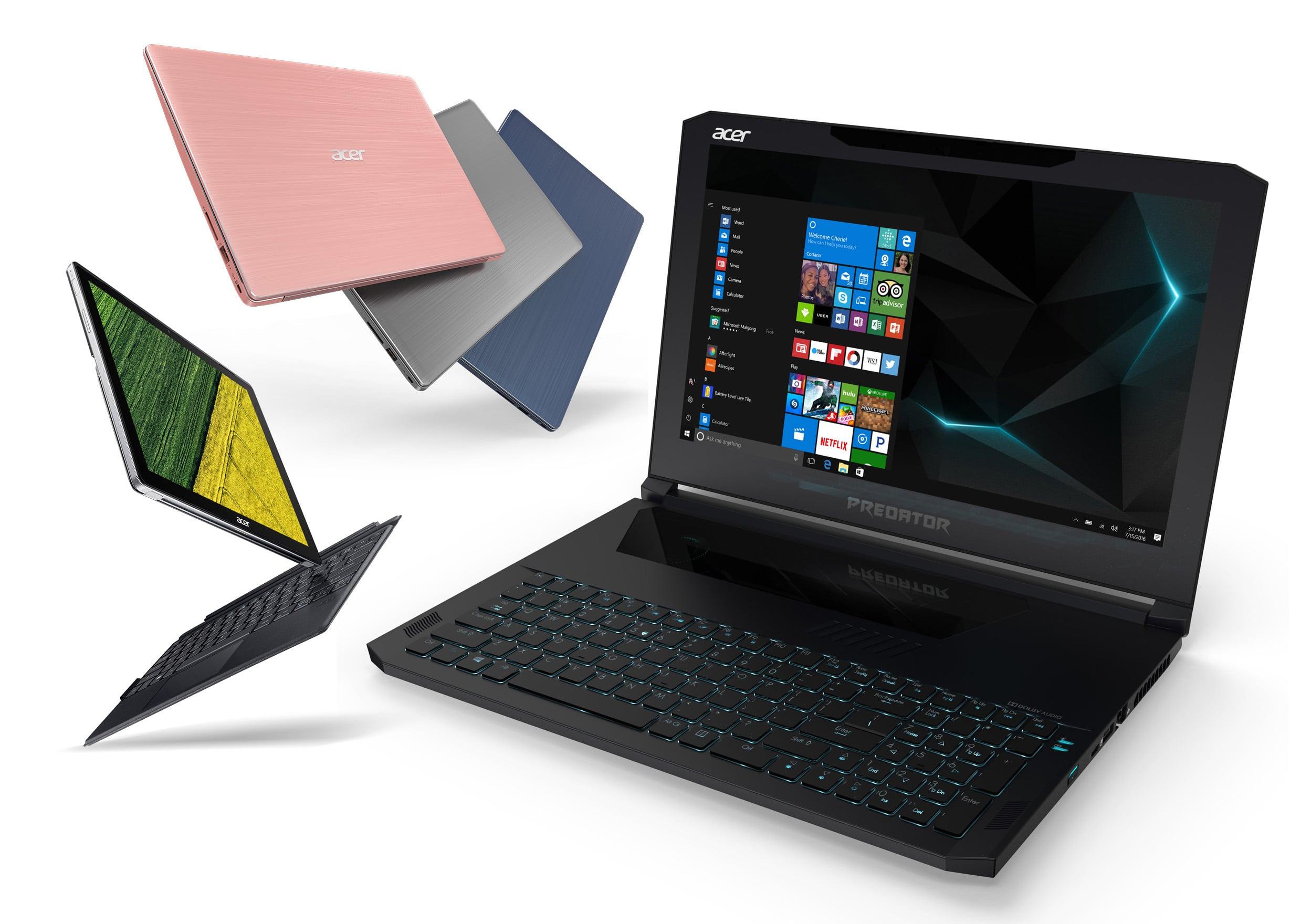 Helios, Triton, Switch, Acer dévoile ses nouveautés PC portable pour la rentrée 2017