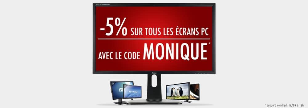 """<span class=""""tagtitre"""">Bon Plan - </span>5% de remise immédiate sur les moniteurs PC chez Top Achat"""