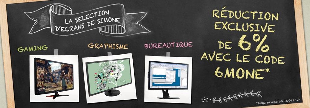 Top Achat Réductions écrans moniteurs 3avril15