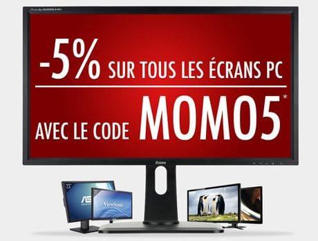 """<span class=""""tagtitre"""">Bon Plan - </span>5% de remise immédiate sur les écrans PC chez Top Achat"""