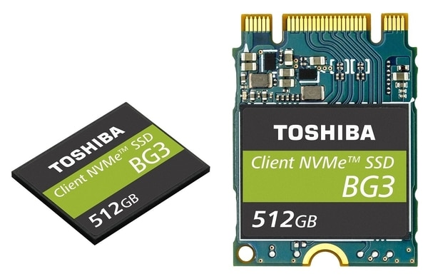 Toshiba BG3, nouveau SSD M.2 NVMe de petit format, le plus fin au monde