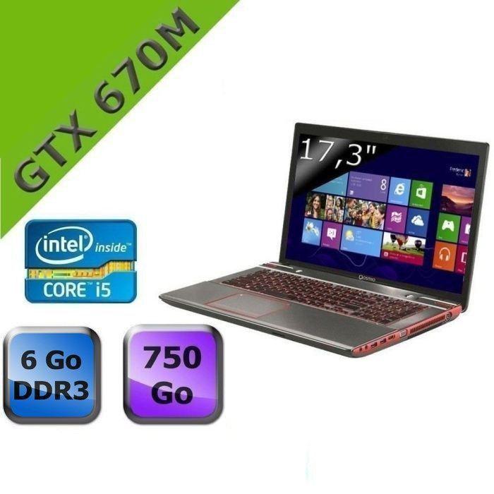 "<span class=""toptagtitre""><del datetime=""2014-01-08T11:03:56+00:00"">Soldes 699€ ! </span></del>Toshiba Qosmio X870-165, 17.3"" Full HD avec GTX 670M, Core i5 Ivy Bridge, 6 Go, 750 Go à 949€"