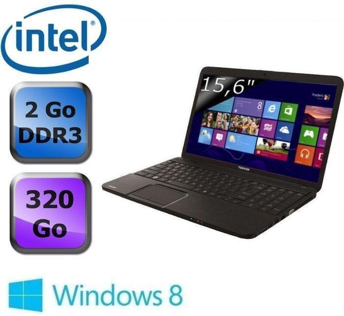 "Toshiba Satellite C850-1G2, 15.6"" à petit prix (Dual Core Ivy Bridge, 320 Go, USB 3.0) à 299€"