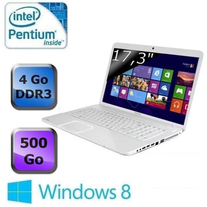 "Toshiba Satellite C870-1E8 en vente flash à 369€, 17.3"" : Pentium Dual Core, 500 Go"