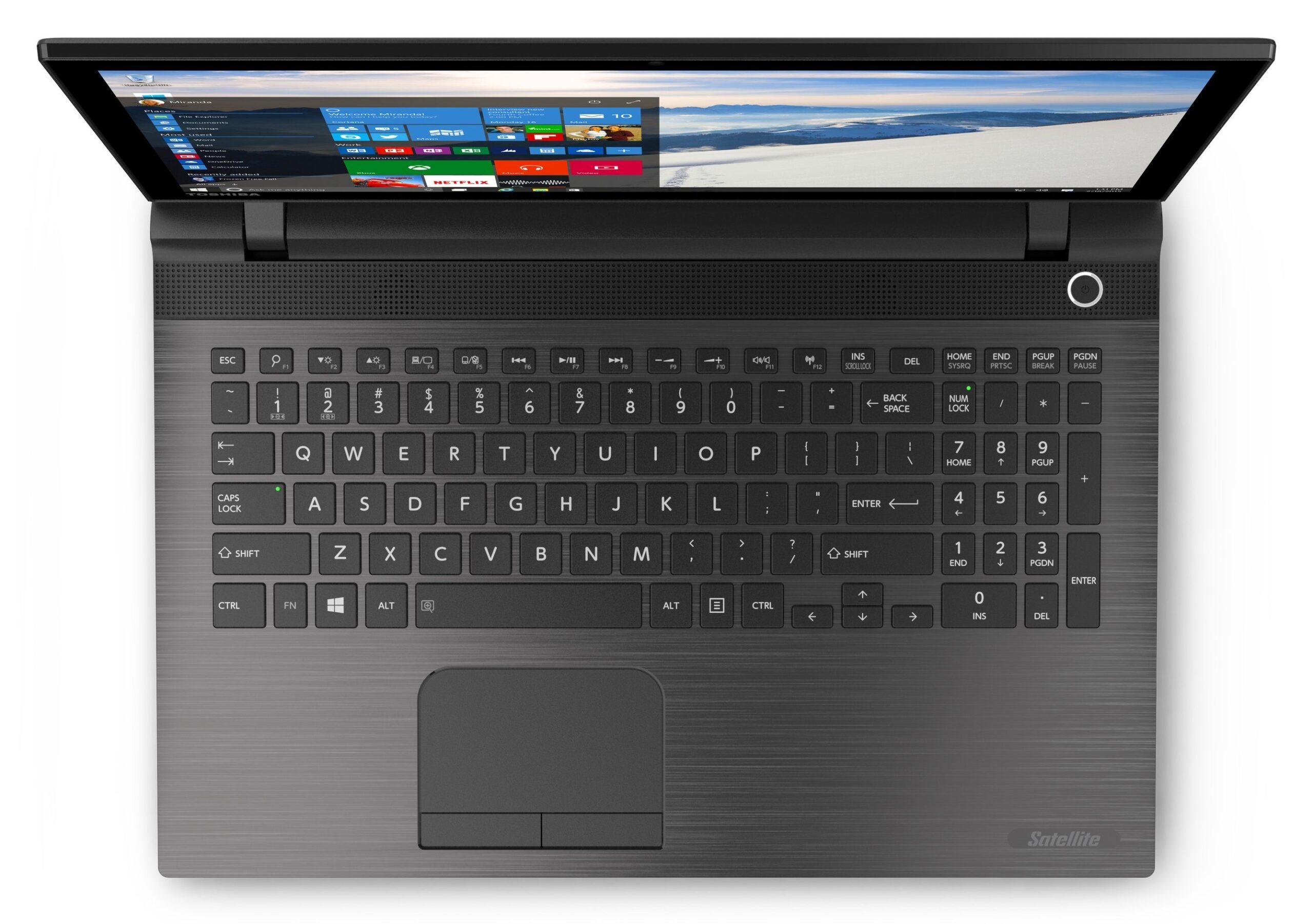 """<span class=""""tagtitre"""">Toshiba - </span>touche dédiée à Cortana sous les PC portables Windows 10"""