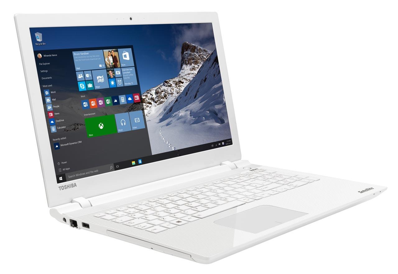 Toshiba Satellite L50-C-21K à 589€, PC portable 15 pouces blanc