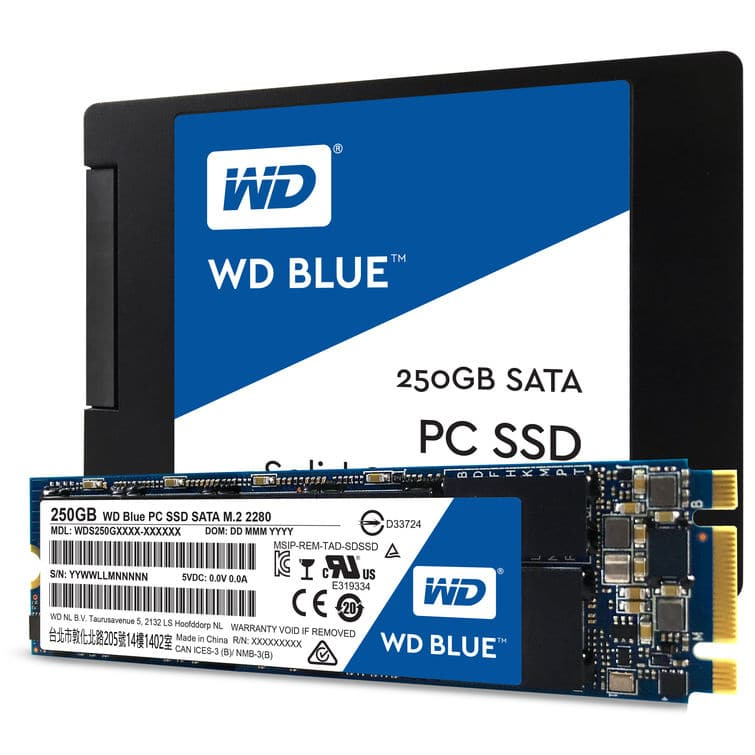 "<span class=""tagtitre"">Bon Plan - </span>SSD 2.5"" ou M.2 Western Digital Blue de 250 Go en promo à 54€"