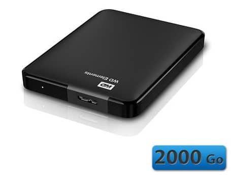 """<span class=""""tagtitre"""">Bon Plan - </span>disque dur externe Western Digital Elements 2.5"""" de 2 To à 129 euros"""