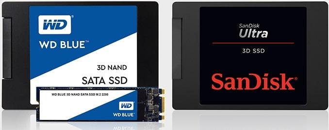 Western Digital annonce les SSD WD Blue 3D et SanDisk Ultra 3D à 64 couches