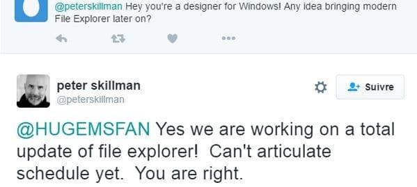 """<span class=""""tagtitre"""">Windows 10 - </span>Microsoft planche sur un nouvel explorateur"""
