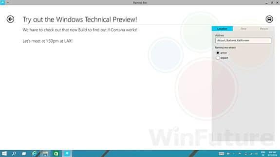 Windows 9 : captures d'écran et vidéos dévoilent Cortana, bureaux virtuels et centre de notification