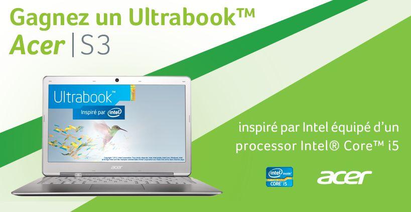 Acer Ultrabook Aspire S3 à gagner Réductions