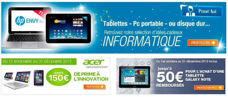 """<span class=""""tagtitre"""">Bon plan - </span>5% de remise sur les PC portables et tablettes chez Carrefour"""
