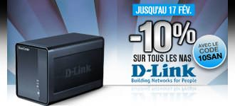 GrosBill Réductions 10% NAS D-Link 10SAN 17fev13