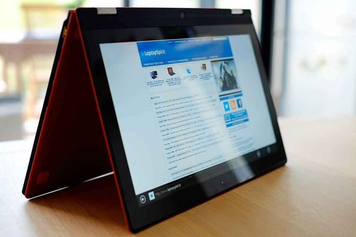 """<span class=""""tagtitre"""">CES 2014 - </span>Lenovo dévoile son Yoga 2 avec Intel Bay Trail"""