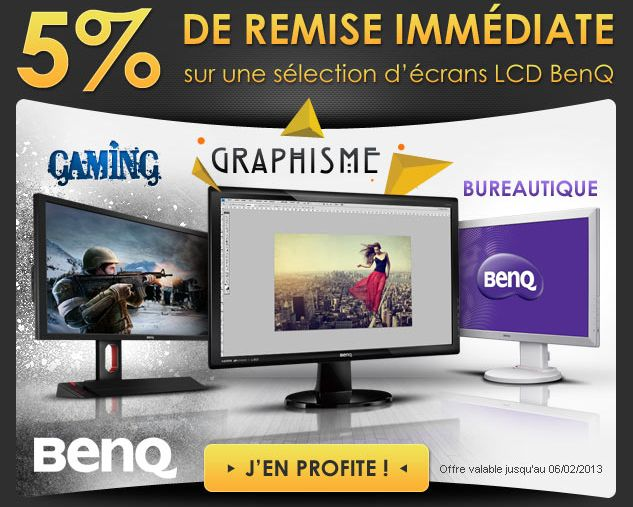 Materiel.net BenQ moniteurs Réduction 5% 6fev13