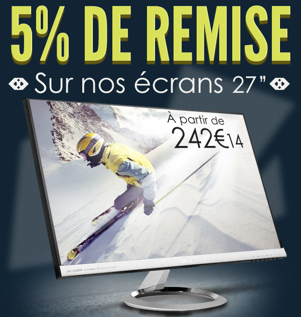 Materiel.net Réductions 5% écrans moniteurs 27 pouces 20mars13
