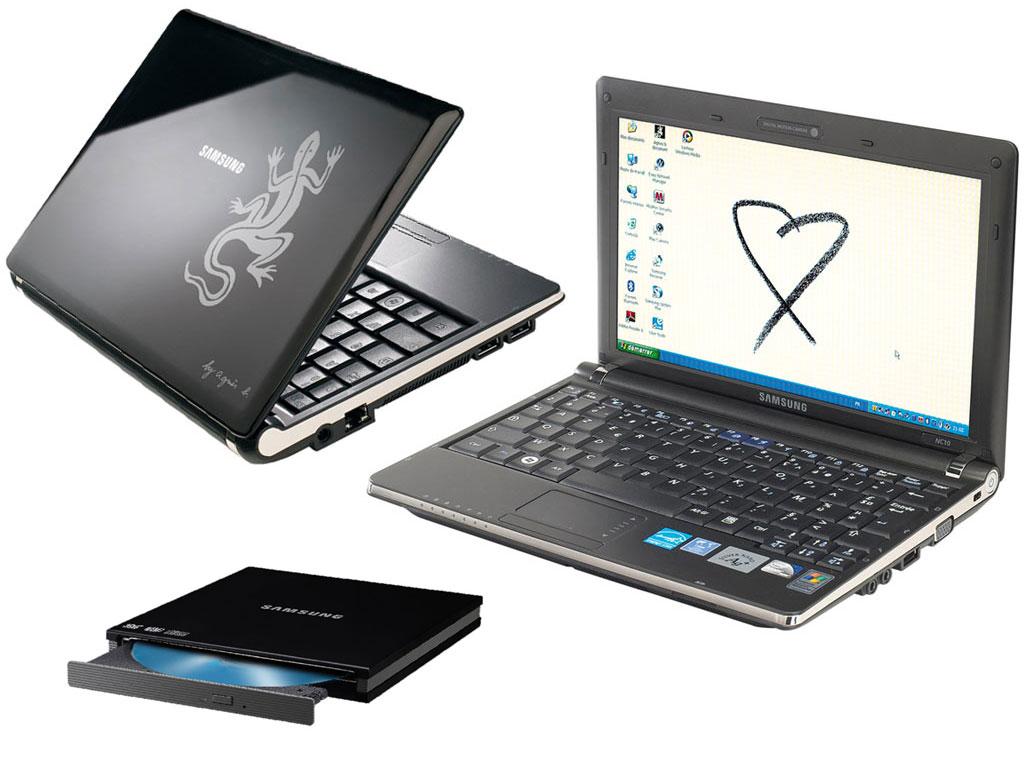 Samsung NC10 Agnès b et graveur DVD externe Samsung Slim noir