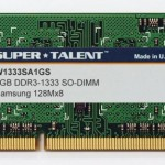 Super Talent 1 Go DDR3 1333 Mhz W1333SA1GS