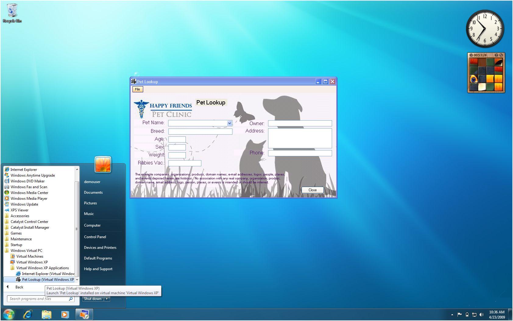 Windows 7 Mode Windows XP